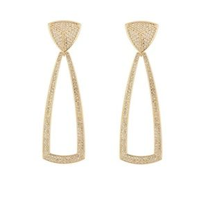 House of Harlow 1960 Crystal Pyramid Earrings